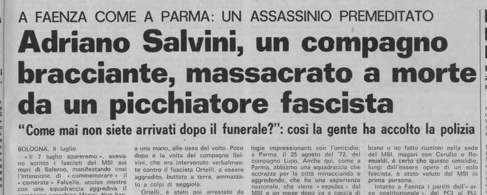 L'omicidio di Adriano Salvini