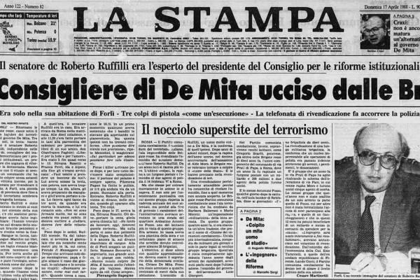 L'omicidio del senatore Roberto Ruffilli