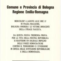 Manifesto di convocazione dei funerali di stato per le vittime della strage