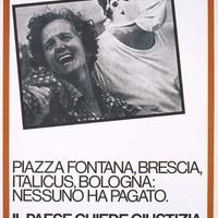 Manifesto del PCI, alla ricorrenza del primo anniversario della strage di Bologna