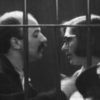 Tiziana Cherubini e  Franco Grilli durante il processo per la morte di Ruffilli a Forlì (Ansa)