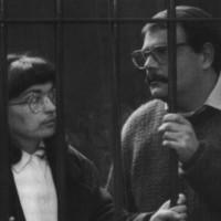 I coniugi Fabio Ravalli e Maria Cappello in aula durante il processo per l'omicidio Ruffilli (Ansa)