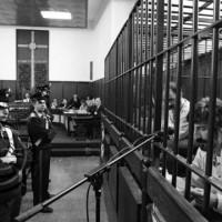 L'aula del Tribunale di Forlì durante il processo (Foto Cristiano Frasca)