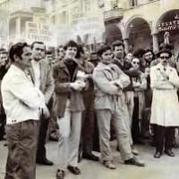 Adriano Salvini alla manifestazione antifascista del 23 ottobre 1972