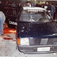 La uno dei carabinieri colpita dalla banda