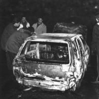 La Uno bianca utilizzata dalla banda nell'assalto viene abbandonata e incendiata