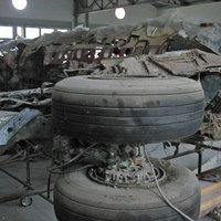 I resti del DC9 all'interno del museo bolognese dedicato a Ustica