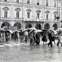 Forlì, 10 maggio 1978. Manifestazione indetta dalla Federazione CGIL-CISL-UIL in risposta all'assassinio dell'on. Aldo Moro.  (Minisci)